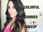 Colorful Summer Makeup  Amber Orange & Purple
