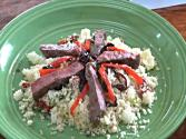 Couscous Salad With Caramelized Onions And Marinated Beef
