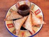 Crab Rangoon With Sweet-sour Sauce