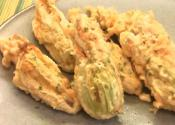 Squash Blossoms Stuffed With Crab And Goat Cheese