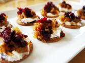 Cranberry Cheese Caramelized Onion Bites With Citrus Feel