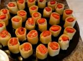 Creamy Chicken Almond And Cranberry Stuffed Cannelloni Hors D'oeuvres