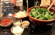 Spinach Salad With Creamy Dreamy Dressing