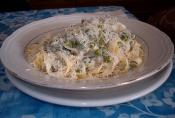 Creamy Fettuccine With Peas