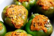 Creole Stuffed Green Peppers