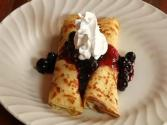 Crepes Stuffed With Blueberries & Mascarpone Cheese And Whole Wheat Crepes Too!