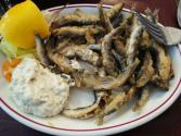 Masala Crusted Whitebait On Lime Ranch Red Onion