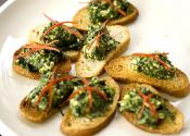 Healthy Herb Mushroom Crostini