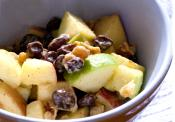 Curried Waldorf Salad With Raisins And Spiced Walnuts