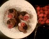 Dark Chocolate Mousse And Strawberry Cream In Chocolate Cups