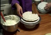 Decorating Multi Layered Vanilla Chiffon Cake Part 1