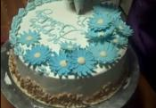 Decorating Multi Layered Vanilla Chiffon Cake Part 4