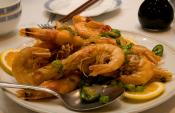 Deep Fried Marinated Shrimp