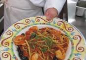 Delicious Shrimp Puttanesca With Linguine Pasta