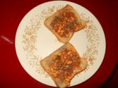 Protein Rich Indian Style Baked Beans On Toast