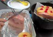 Outdoor Cast Iron Easy Bake Ham With Fruits