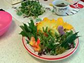 Sprouts And Edible Flower Salad