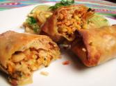 Baked Pork Spring Rolls