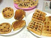Eggless Pancakes & Waffles With Oatmeal
