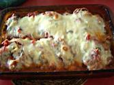 Grilled Eggplant Rolls With Three Cheeses