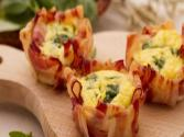 Quick Eggs In Bacon Baskets 