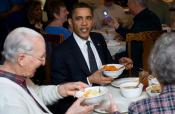 Obama Indulges In Southern Meal- Don't Tell Michelle !