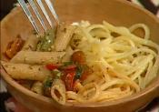 Fettuccine Alfredo, Linguine Prima Vera And Whole Grain Veggie Penne