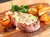 Fillet Steak In Champagne Sauce & Chips - Valentines Day
