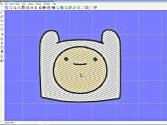 Embroidery - Finn Of Adventure Time - A Look At Sophie Sew Object Outline And Fill Region Properties