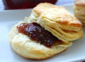 Flaky Buttermilk Biscuits With Homemade Fig Jam