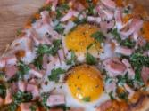 Egg & Ham Flatbread For Simon Cowell