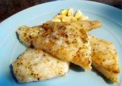 Flounder In Mint Marinade
