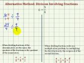 Ex2: Division Involving Fractions - Compare Alternative And Traditional Methods