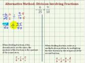 Ex4: Division Involving Signed Fractions - Compare Alternative And Traditional Methods