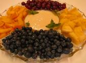 Snack Time Treat With Fresh Fruit And Dipping Sauce
