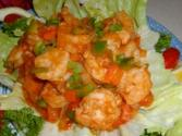Fried Prawns In A Spicy Sauce