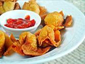 Fried Wontons And Homemade Duck Sauce