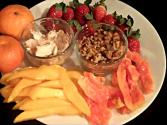 Tropical Fruit Salad And Dip