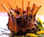 Garlic Flavored Crown Roast Of Lamb