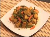 Gawar Aloo (cluster Bean Vegetable) - Indian Food
