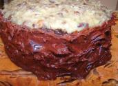 German Chocolate Cake With Chocolate Icing