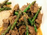 Ginger Asparagus Flank Steak Stir Fry