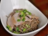 Ginger Scallion Noodles With Roasted Pork Tenderloin