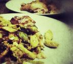 Caramelized Leeks And Brussels Sprouts