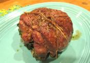 Glazed Rolled Leg Of Lamb