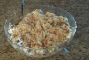 Grape And Cheese Salad With Pecan And Brown Sugar Topping