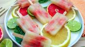 Grapefruit, Basil & Vodka Boozy Popsicle