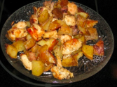 Chicken Wings With Grilled Potatoes