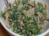 Green Beans With Quinoa Dates And Almonds - Vegan