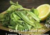 Green Garden Salad With Herb & Bacon Vinaigrette